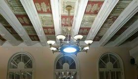 Massive lamp in the premises of the railway station. In Tsarskoye Selo Royalty Free Stock Image