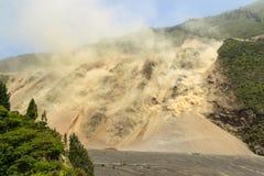 Massive Landslide At High Altitude In Ecuador Royalty Free Stock Photo