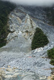 Massive landslide at the Taroko National Park in Taiwan Royalty Free Stock Photography