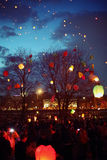 Massive launch lanterns Stock Photography