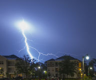 Massive Lightning Strike Royalty Free Stock Image