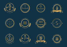 Massive logo badges template bundle Stock Image
