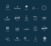 Massive logo badges template bundle Royalty Free Stock Photos