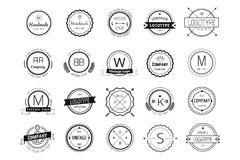 Massive logo badges template bundle Royalty Free Stock Image