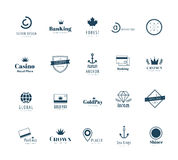 Massive logo set. Old style and modern flat icons Stock Images