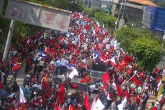 Protest March against reelection 2017 12. Massive march against reelection in Honduras Dicembber 2017 political party Royalty Free Stock Photo