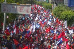 Protest March against reelection 2017 12. Massive march against reelection in Honduras Dicembber 2017 political party Stock Image