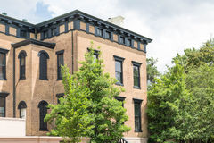 Massive Old Brick Townhome Stock Photos