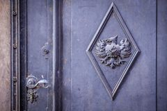 Massive old iron door Royalty Free Stock Photography