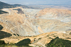 Massive open pit mine Royalty Free Stock Photos