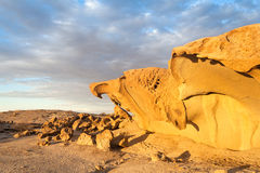 Massive orange granite rock formation, Namibia Royalty Free Stock Photography