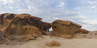 Massive orange granite rock formation, Namibia Stock Images