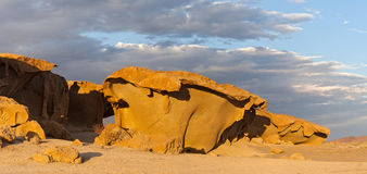Massive orange granite rock formation, Namibia Royalty Free Stock Images