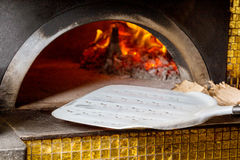 Massive oven for pizza on firewood Stock Images