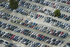 Massive Parking of cars Royalty Free Stock Photo