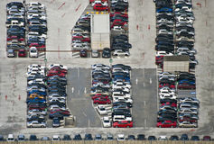 Massive Parking of cars stock images