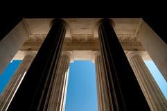 Massive pillars. Of ionic architecture Stock Image