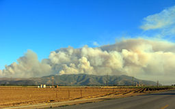 Massive Plumes of Brush Fire Smoke Royalty Free Stock Images