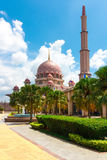 Massive Putra Mosque (Masjid) Royalty Free Stock Images