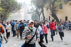 Massive revolution in Cairo, Egypt Royalty Free Stock Photography
