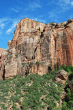 Massive rock at Zion Canyon Royalty Free Stock Photos