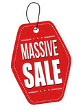 Massive sale leather label or price tag Stock Photo