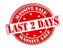 Massive sale. Rubber stamp with text massive sale inside,  illustration Stock Photography