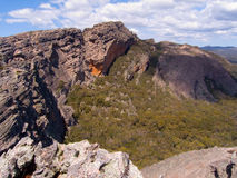 Massive Sandstone Cliff. At Hollow Mountain, The Grampians, Australia royalty free stock image