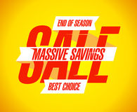 Massive savings sale banner. Stock Images