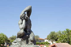 Massive sculpture in Nice in France stock photography