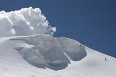 Massive snow on the Alps Royalty Free Stock Photos