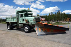 A massive snowplow in the summertime Royalty Free Stock Photo
