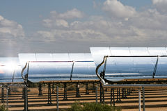 Massive Solar Panel Arrays Stock Images