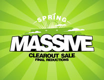 Massive spring sale design template Royalty Free Stock Photos