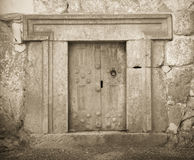 Massive stone door. A massive stone door at Beit Shearim, an ancient jewish necropolis in Israel Royalty Free Stock Photos