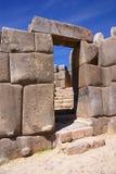 Massive stone gateway royalty free stock photo