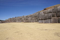 Massive stone Inca fortress walls Stock Images