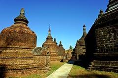 detail of Ratanabon Paya, Mrauk U, Rakhine State, Myanmar royalty free stock photos