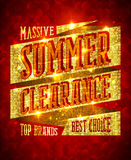 Massive summer clearance design concept, top brands, best choice Royalty Free Stock Photo