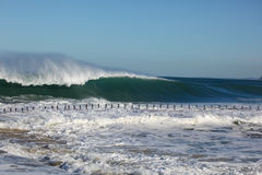 Massive Surf Newcastle Beach Australia Royalty Free Stock Images