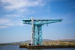 The massive Titan Crane at the site of John Brown`s yard in Clydebank. The massive Titan crane at the site of John Brown`s shipyard in Clydebank, Scotland. Built Stock Photo