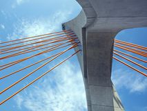 Massive Tower of a Cable Stayed Royalty Free Stock Images