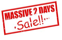 Massive two days sale. Rubber stamp with text massive two days sale inside,  illustration Royalty Free Stock Images