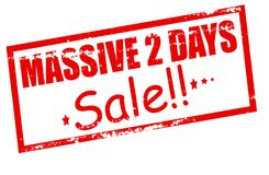 Massive two days sale. Rubber stamp with text massive two days sale inside,  illustration Royalty Free Stock Photo