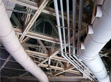 Massive Ventilation Pipes Stock Photo
