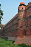 Massive Wall and Moat, Red Fort Delhi Stock Image