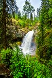Moul Falls in Wells Gray Provincial Park, British Columbia, Canada Royalty Free Stock Photos