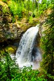 Moul Falls in Wells Gray Provincial Park, British Columbia, Canada Stock Image