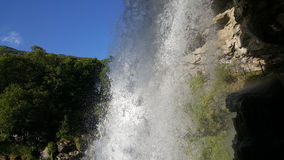 Massive waterfall. In the Geiranger Fjord Sunnylvsfjorden Norway Stock Photography