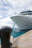 Massive White Cruise Ship Stock Photo